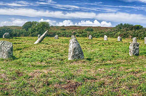 Boscawan un stone circle Trelew Farm